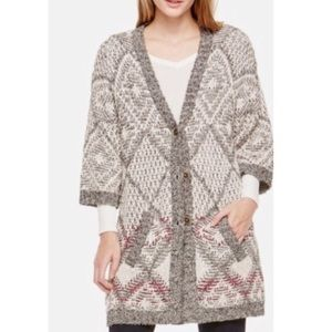 Two by Vince Camuto Oversized Jacquard Cardigan